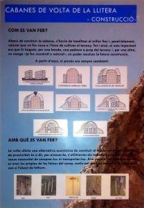 Cabanes de volta de la Llitera: construcció (infografía de Laia Brualla)