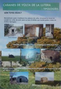 Cabanes de volta de la Llitera: tipologies (infografía de Laia Brualla)