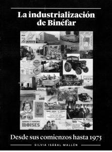 Primera de cubierta del libro 'La industrialización de Binéfar'