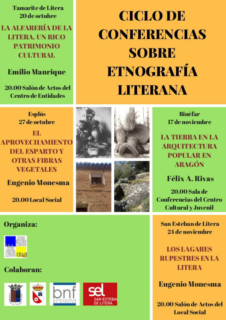 Cartel del ciclo de conferencias 'Etnografía literana' 2017