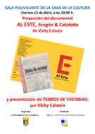 Cartel del acto 'Dicen que hay tierras al Este' en Alcampell