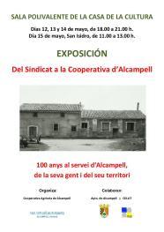 Cartel de la exposición 'Del Sindicat a la Cooperativa d'Alcampell' en los actos del centenario