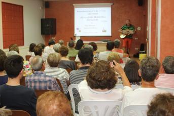 Un momento de la presentación de LITTERA 5 en Alcampell (foto Sebastián Agudo / La Litera información)