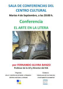 Cartel de la conferencia «El arte en la Litera»