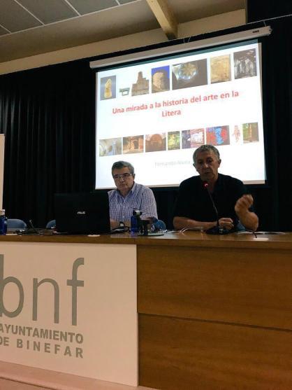 Presentación de la conferencia «El arte en la Litera» (foto Juan Carlos García)
