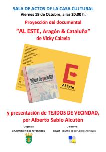 Cartel del acto 'Dicen que hay tierras al Este' en Altorricón