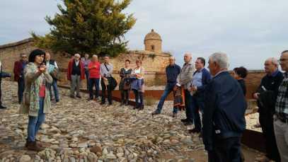 Visitando el castillo de Monzón (foto CEHIMO)