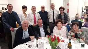 La Junta directiva del CELLIT con otros amigos en la gala de entrega de premios