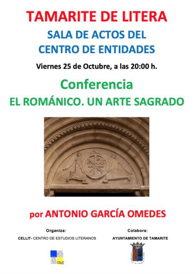 Cartel de la conferencia «El románico: un arte sagrado»
