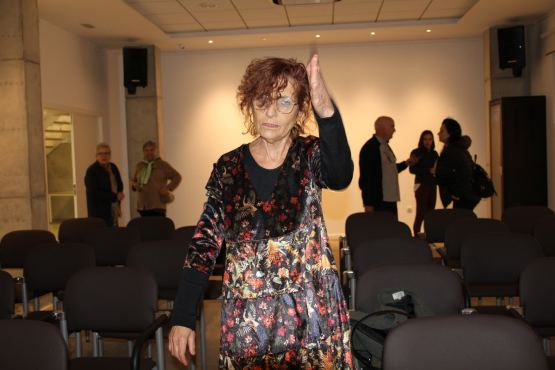 Tras la conferencia «El consultorio de Elena Francis en la Litera» en Albelda (foto Ira Sales / La Litera información)