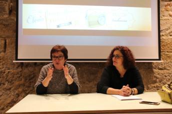 Un momento de la conferencia «El consultorio de Elena Francis en la Litera» en Albelda (foto Ira Sales / La Litera información)