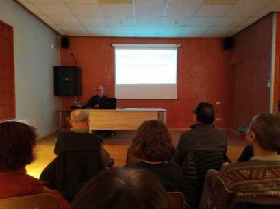 Aspecto parcial de la conferencia «Singularidad hispánica del arte mudéjar y su pervivencia histórica en Aragón»