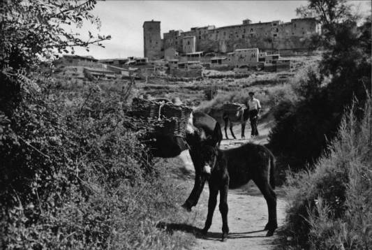 Baldellou, 1957: yendo por agua (foto José María Canes Cuyás, fondo CELLIT, cedida a Fototeca de Huesca)