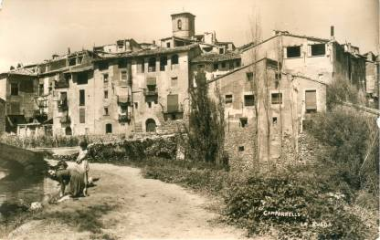 Camporrells, hacia 1950: <i>la Roda</i> (postal sin autor, fondo CELLIT)