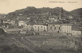 Tamarite de Litera, hacia 1927: vista parcial (postal P.Y., fondo CELLIT) [anverso]