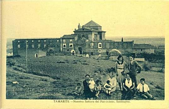 Tamarite de Litera: santuario del Patrocinio (postal, colección Ignacio Enjuanes, depositario CELLIT)