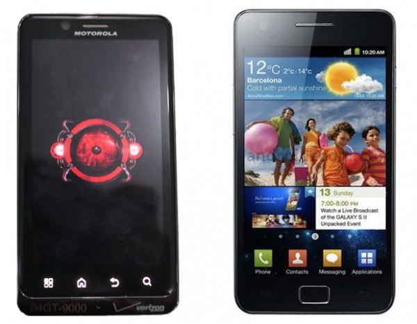 DROID-Bionic vs  samsung-Galaxy-S2