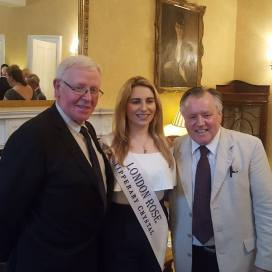 John Nolan with London Rose, Caoimhe Gallagher and Gerry Molumby