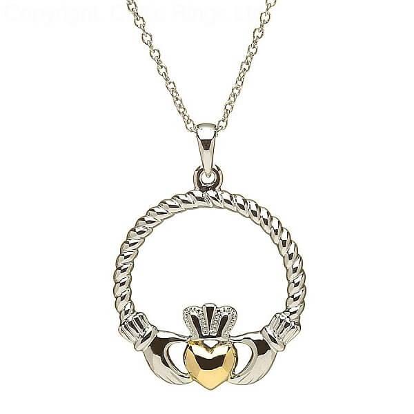 Silber Claddagh Gold Herz Anhnger  Celtic Rings Ltd
