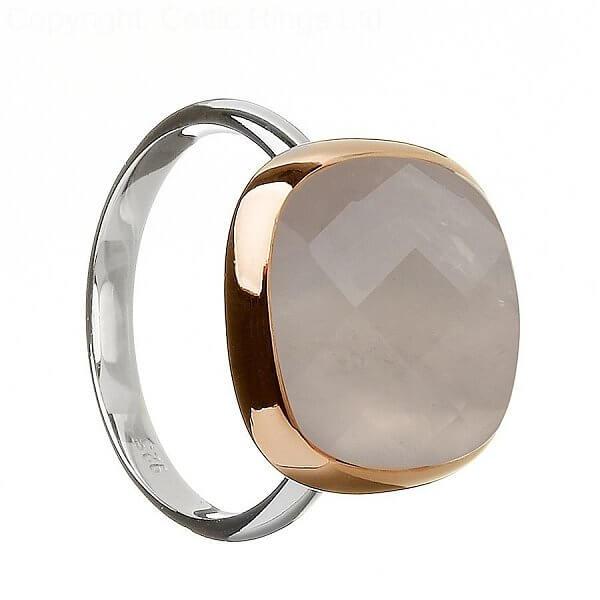 Irischer Rosenquarz Ring  Celtic Rings Ltd