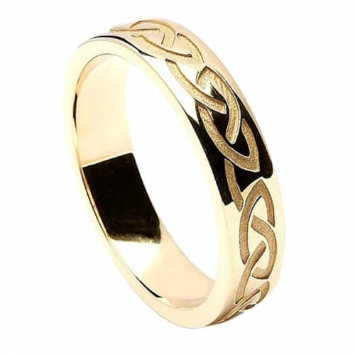 engraved celtic knot wedding