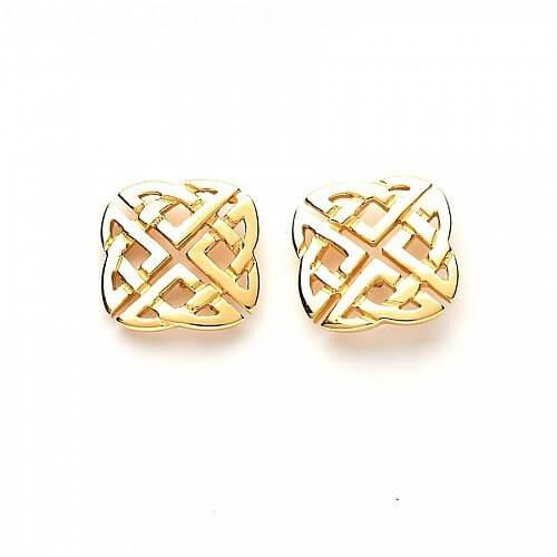 Keltisches Quadrat Bolzen Ohrringe  Celtic Rings Ltd