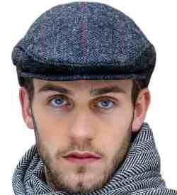 Gray Tweed Flat Cap