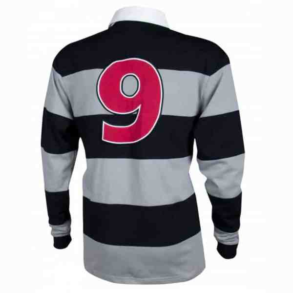 Guinness Rugby Jersey - Black And Gray. Authentic Irish