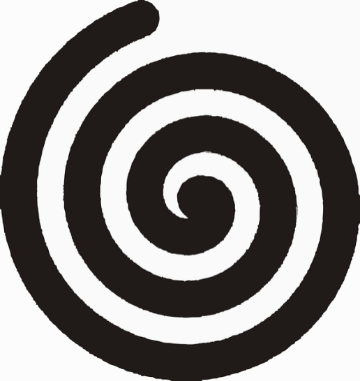 (Linksdrehende Spirale)