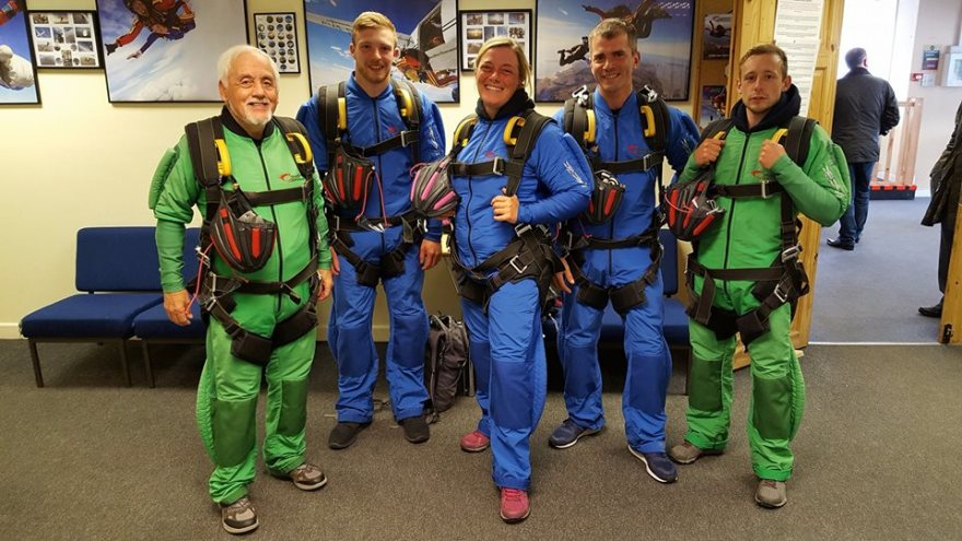 Celtic Quest Coasteering team, ready to jump at skydive swansea