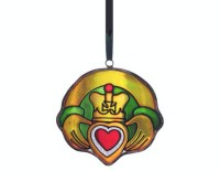 Stained Glass Hanging Claddagh Christmas Decoration ...