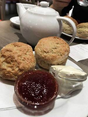 Cornish clotted cream and scones