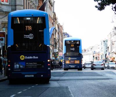 Dublin Buses on Dame Street, Dublin