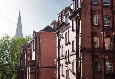 Social Housing provided by Guinness's Iveagh Trust, Dublin