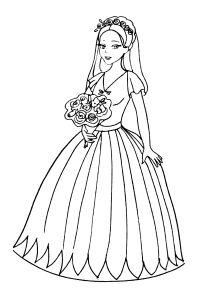 Omalovánky k vytisknutí: Pro dívky: Nevěsty, Svatba, Láska