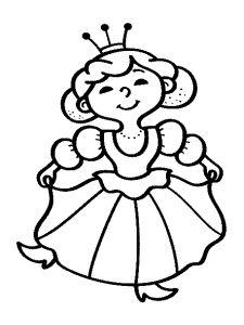Omalovánky k vytisknutí: Pro dívky: Princezny