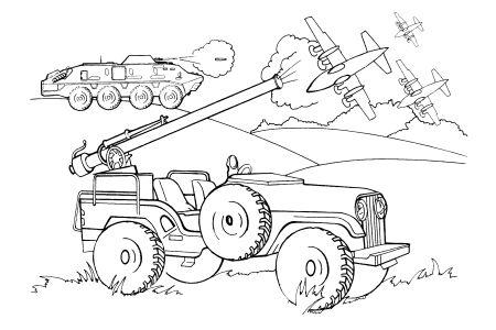 Omalovánky k vytisknutí: Pro kluky: Válka
