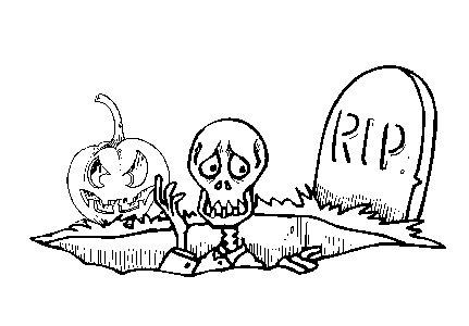 Omalovánky k vytisknutí: Svátky: Halloween