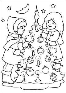 Omalovánky k vytisknutí: Svátky: Vánoce