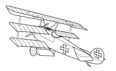 Omalovánky k vytisknutí: Technika: Letadla