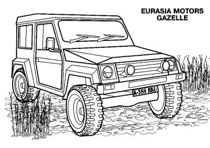 Omalovánky k vytisknutí: Technika: Tanky, vozidla