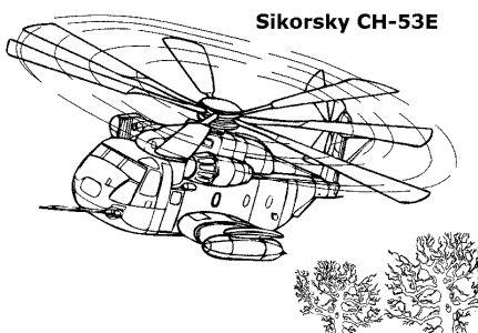 Omalovánky k vytisknutí: Technika: Vrtulníky