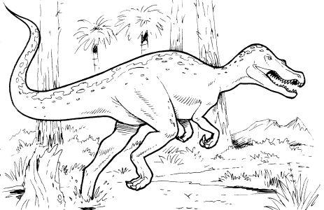 Omalovánky k vytisknutí: Zvířata: Dinosauři, dinosaurus