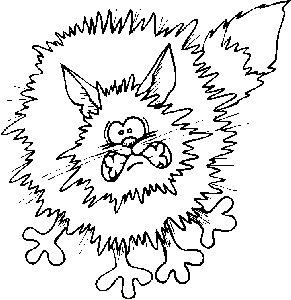 Omalovánky k vytisknutí: Zvířata: Kočky