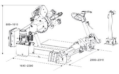 CEMB SM33T Semi-automatic universal tyre-changer for truck