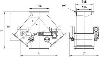 FC Three or four ways chute_Material powder valve class