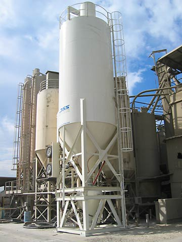 Cement Silo Batching Systems  Low Pro Batching Silos  Supersax 300 with batch controller