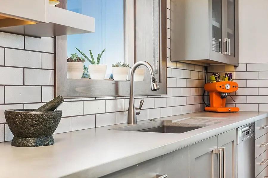 kitchen counters organisers rev concrete contemporary cement elegance