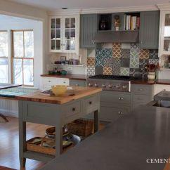 Cement Tile Kitchen Bimby Robot Backsplash Shop Blog Let