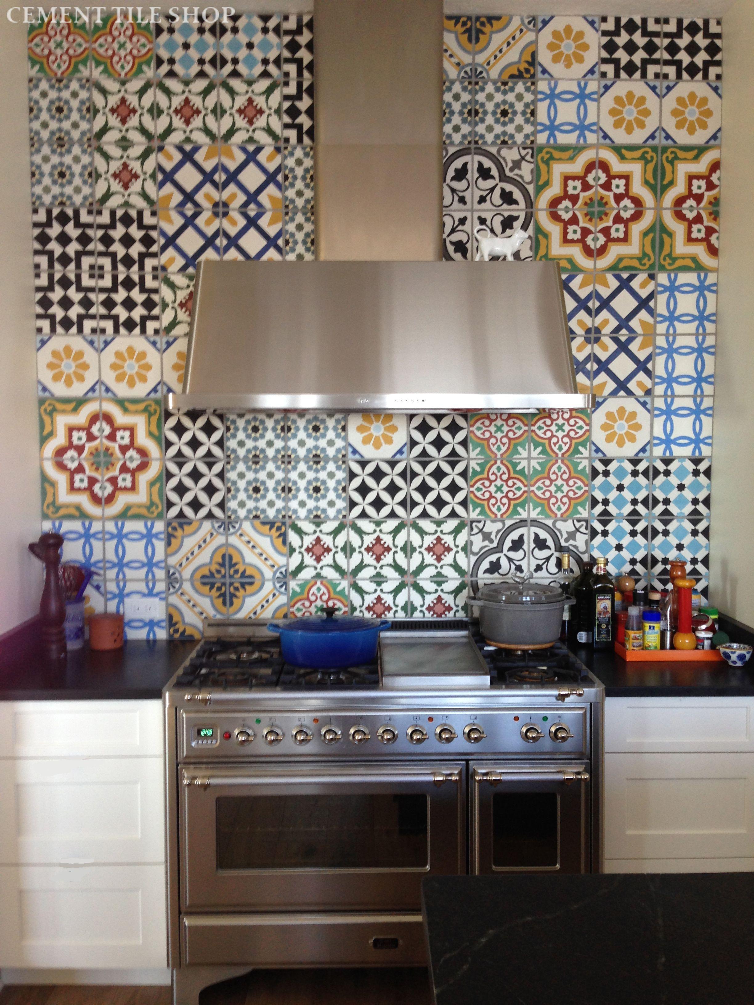 kitchen backsplash  Cement Tile Shop Blog